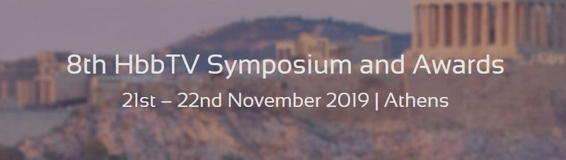 Convocatoria de ponentes para HbbTV Symposium and Awards