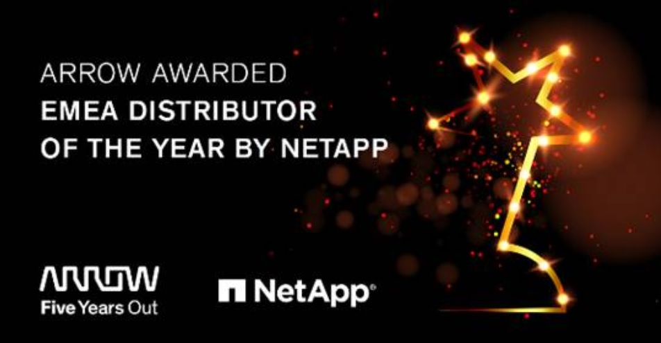 Arrow se alza con el Partner Excellence Award EMEA 2020 de NetApp