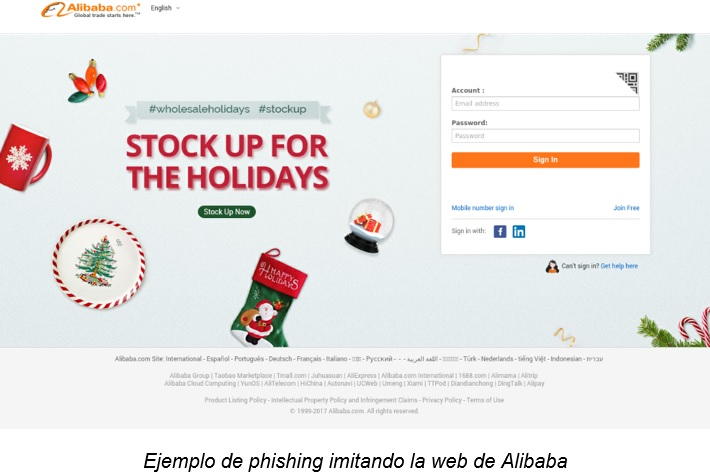 phishing alibaba