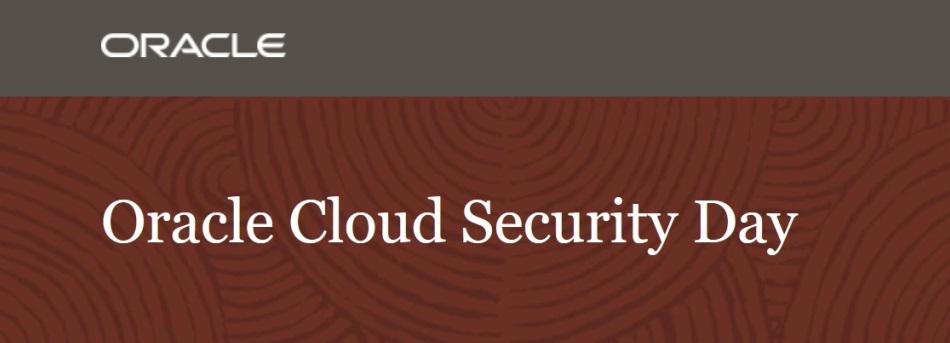 Webcast Oracle Cloud Security Day